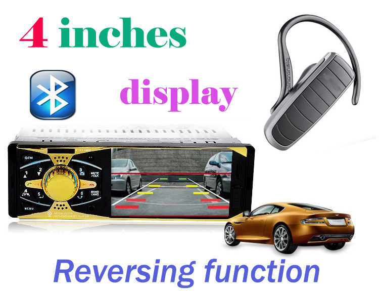 4''inch HD 1080P Car MP5 Player Supports Rear view camera/Stereo FM Radio/Bluetooth phone/MP3/MP4/Audio/Video/Subwoofer free shipping new hd full view 4 1 inch mp5 car player mp4 mp3 bluetooth rear view p5128