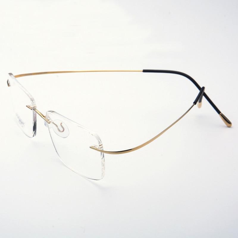 Saf Titan Gözlüklər Rimless çevik Optik Çərçivə Reçetesi - Geyim aksesuarları - Fotoqrafiya 2