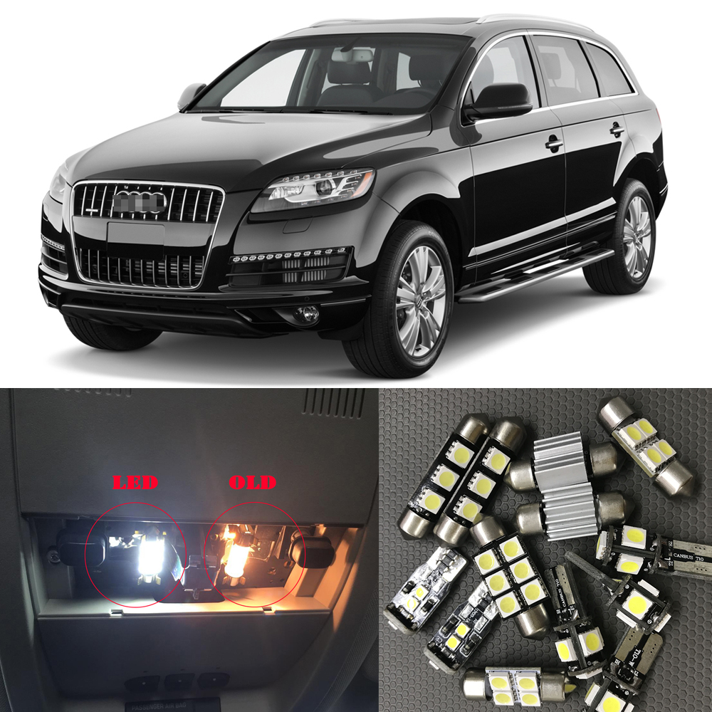 20x Error Free White Interior LED Lights Package For 2010-2015 Audi Q7 TOOL O5