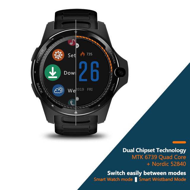 El nuevo buque insignia Zeblaze THOR 5 Dual sistema híbrido inteligente 1,39 «AOMLED pantalla 454*454 p x 2 GB + 16 GB 8.0MP cámara frontal de reloj inteligente