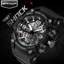 三田メンズスポーツは、 2018 G スタイル軍事防水腕時計衝撃アナログクォーツデジタル時計男性レロジオ