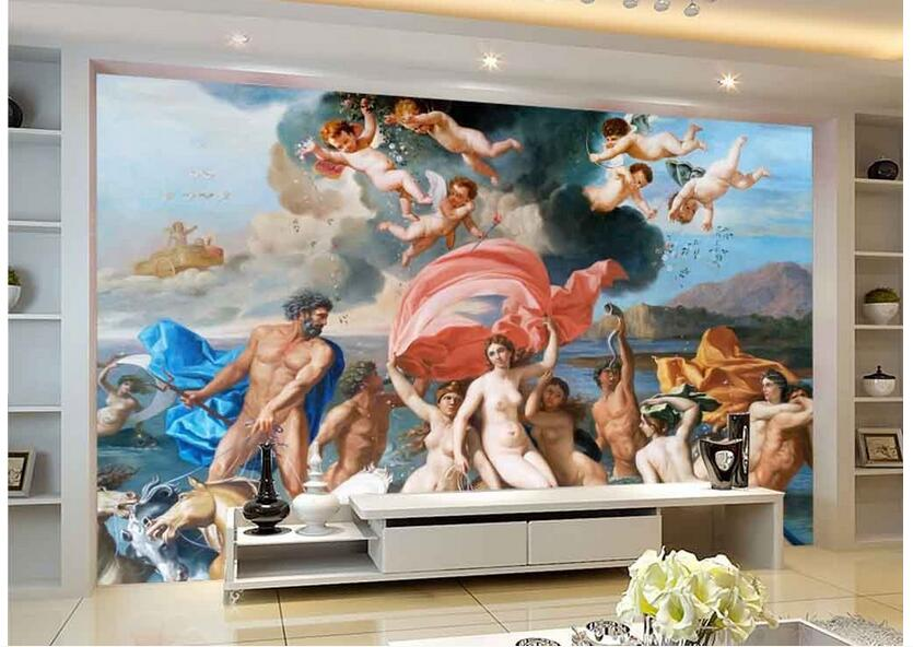 3d wallpaper custom photo non-woven mural picture mythology nude angels 3d wall murals wallpaper room decoration painting custom photo 3d wallpaper non woven mural 3d wall murals wallpaper for living room european watercolor roses decoration painting