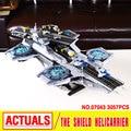 LEPIN 07043 3057 unids Nuevo Super Heroes El ESCUDO Helicarrier Modelo Kits de Construcción de Bloques de Ladrillos Educativos Juguetes brinquedos 76042