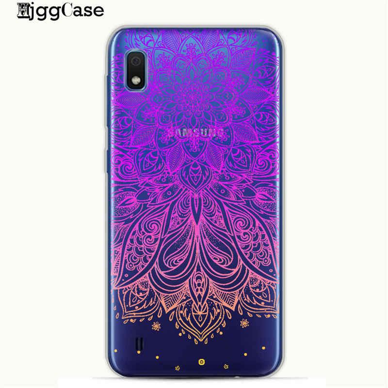 צבעוני נוצת פרח טלפון כיסוי מקרה עבור סמסונג A10 A20 A30 A50 A70 A6 A8 A7 A9 2018 כיסוי עבור כיסוי S10 S10e S8 S9 בתוספת