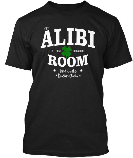 f0096e25 T Shirt Wholesale The Alibi Room Est.1963 Drinks Russian Men'S Crew Neck  Short-Sleeve Graphic Tees