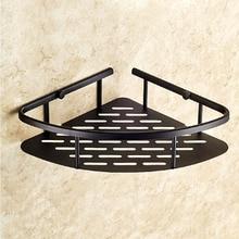 Oil Rubbed Bronze Bathroom Shower Corner Shelf Holder Shelves Storage Shelf Rack Bathroom Basket Holder KD533 bathroom shelf whole brass antique triangle corner shelf shower bathroom holder corner shelf