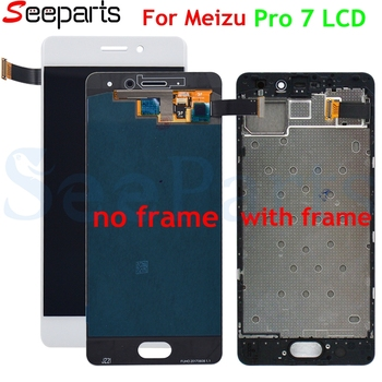100% Tested For Meizu Pro 7 LCD Display + Touch Panel Digitizer Assembly With Frame Replacement Parts For MEIZU Pro7 Display