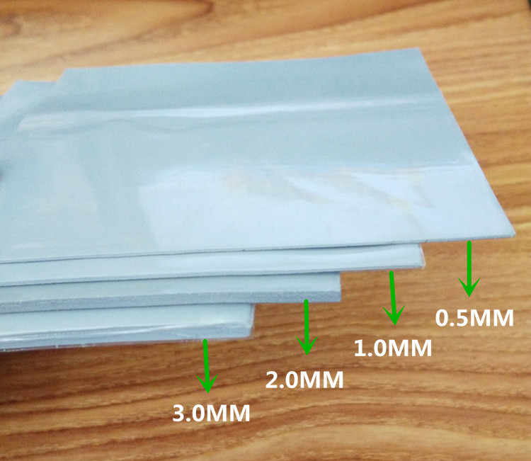 High conductive silica gel sheet 100*100*0.5mm 1mm 1.5mm 2mm 3mm 6W CPU Memory heat dissipation silicone pad silicone grease