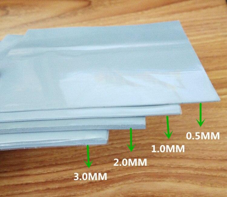 Высокопроводящий лист силикагеля 100*100*0,5 мм 1 мм 1,5 мм 2 мм 3 мм 6 Вт Процессор памяти теплоотвод силиконовый коврик силиконовая смазка|Кулеры/вентиляторы/системы охлаждения|   | АлиЭкспресс