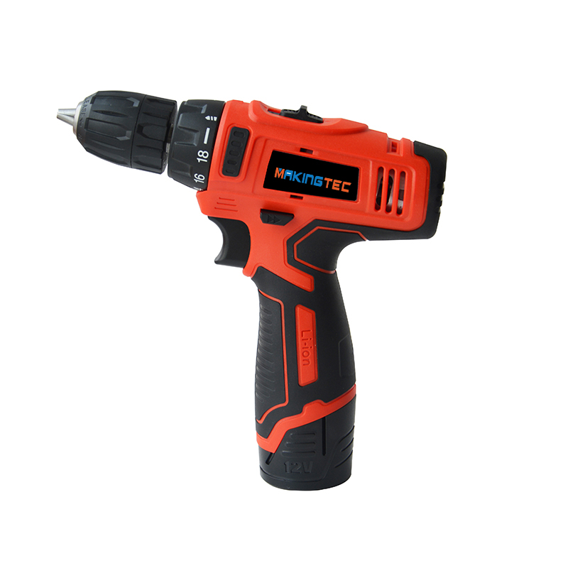 MAKINGTEC 12V Cordless Drill Electric Screwdriver Power Tools Mini Wireless Driver 2-Speed Power Drill DC Lithium-Ion Battery