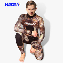 Thick Warm Free Deep Diving Suits Wet Clothes Fake Camouflage Hunting Fishing Jellyfish Two - piece Suit
