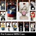 Para lenovo s856 case plástico rígido mobile phone capa case diy cor paitn celular saco shell
