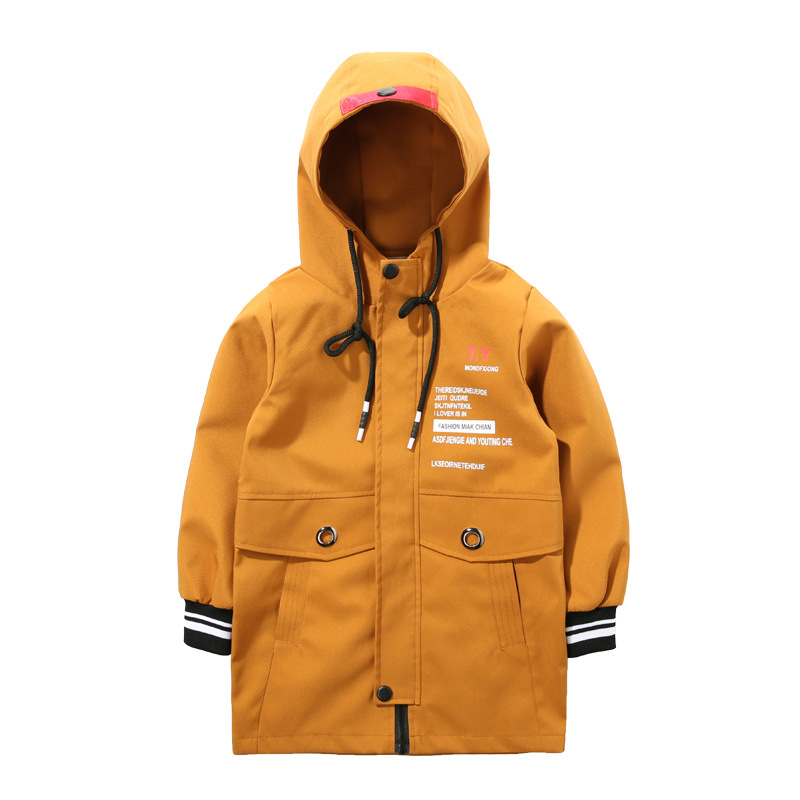 d1e3a0efb Children s wear new boys spring coat child casual jacket kids long ...