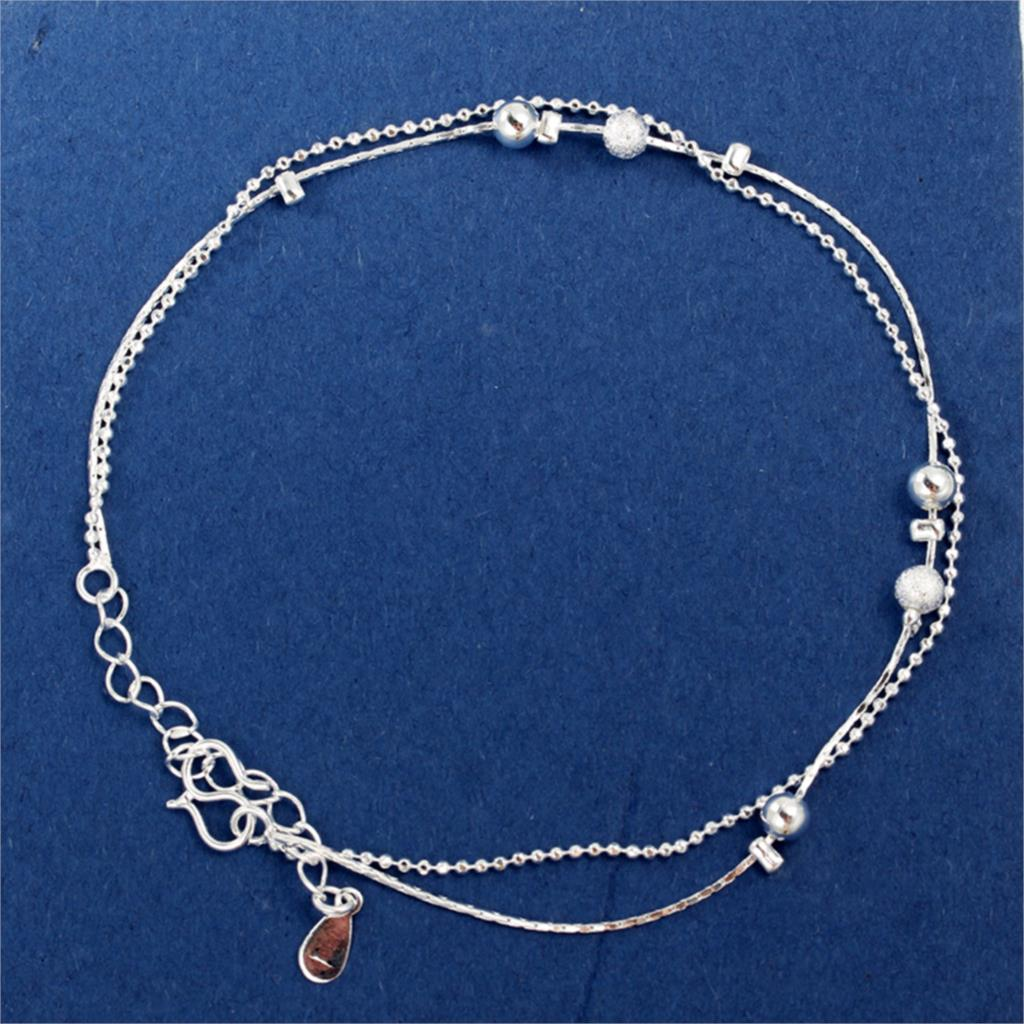 2017 Women Silver Plated Anklet Bead Ankle Bracelet