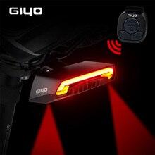 GIYO بطارية حزمة إضاءة دراجة هوائية USB قابلة للشحن جبل دراجة مصباح خلفي الذيل ضوء Led بدوره إشارات الدراجات ضوء الدراجة فانوس