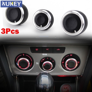 3pc For Vw Jetta Golf 5 Mk5 Tiguan Touran Passat B6 Eos Bora Switch Knobs Heater Buttons Dials Heat Climate Control A/C Cover