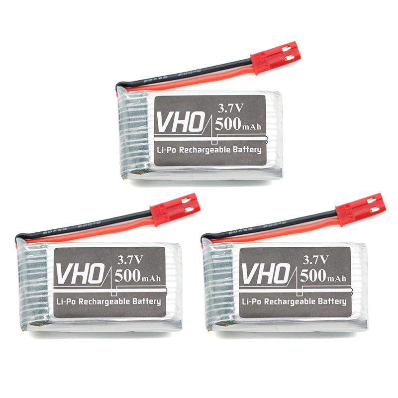 VHO 3PCS 3.7V 500mAH Lipo Battery For 509W DFDF161 Remote control helicopter 3.7 V 500mah 3.7 Lipo battery JST plug 802540 25C for syma x8sw x8sc remote control helicopter 3pcs battery and the us regulatory charger with 1 care 3 conversion line