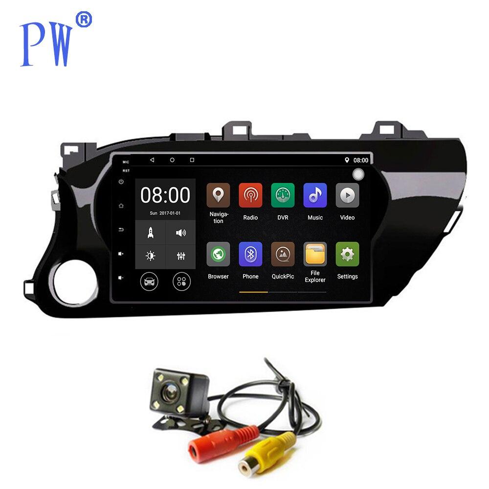 Android 7.1 voiture multimédia stéréo GPS Navigation pour Toyota Hilux 2016-2018 autoradio lecteur vidéo Audio Sat Nav unité de tête Wifi