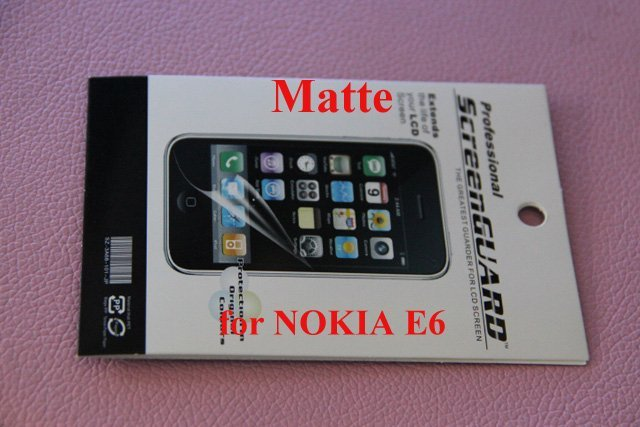 Wholesale For NOKIA E6 Mirror  Screen Protector Film Cover + high quality + free & fast shipping