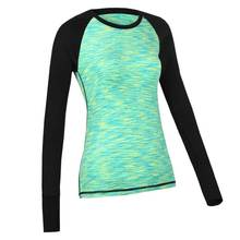 Women Long Tee QUICK-DRY Brand Tops Exercise Runs Yogaing Clothing T-Shirt Workout Fitness Gymming Sporting Shirts Clothes V106