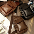 New Men Designed PU Leather Shoulder Bags High Quality Messenger Bags Casual Vintage Handbags Fashion Crossbody Bags