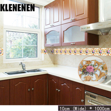 KLG-001 Self-adhesive Wallpaper Decor Wall Sticker Waistline Stickers PVC  Waist Line Bathroom kitchen Tile wallpaper