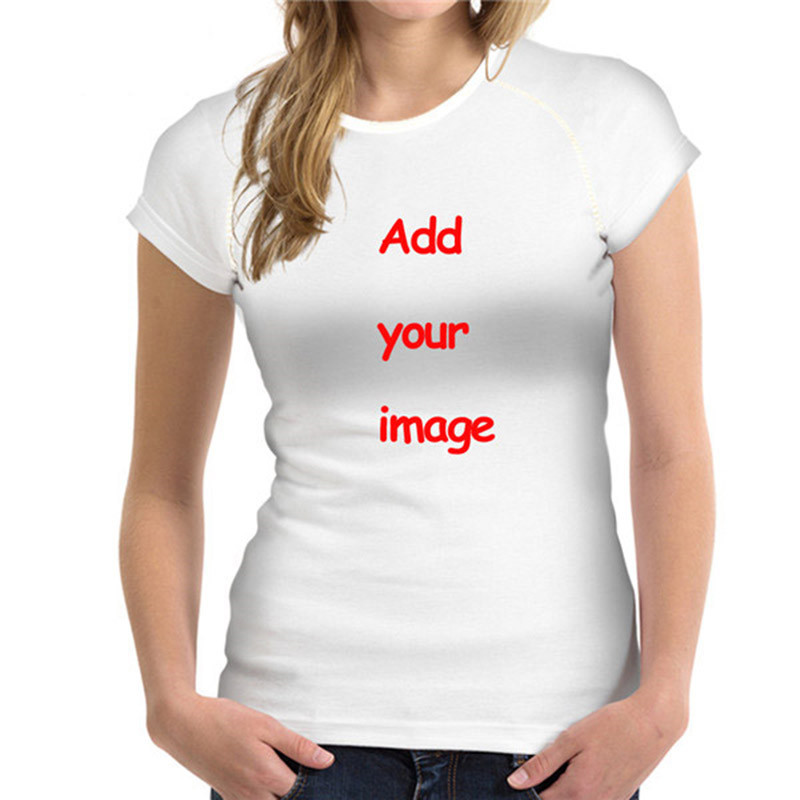 Customized Image LOGO Print Women Casual T Shirt Brand Clothing Women Short Sleeved Breathable Tshirt cat Female Fitness Tops