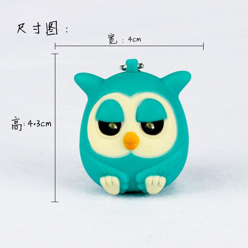 The owl font b LED b font sound luminous key chain Creative small toys font b