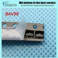 50 pcs frete grátis BAV99 BAV-Uso Geral,, Switng 70 V 200mA A7 SOT23-3 novo original