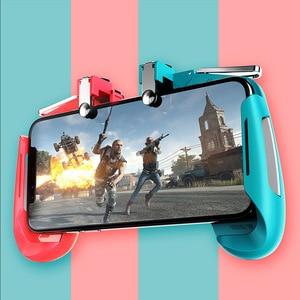 Image 3 - AK16 Metall Smart Telefon Mobile Gaming Trigger Für PUBG Controller Gamepad L1R1 Taste Ziel Shooter Joystick Game Pad
