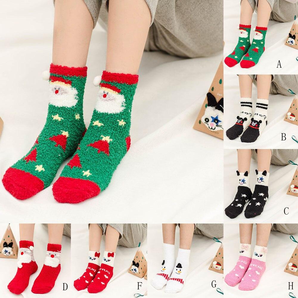 2019 Animal Winter Christmas Socks Fluffy Warm Bed Sleep Socks Hocok Xmas Gift Cute Meias Exquisite Festival Presents Sock #VD7