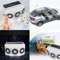 Solar Powered Car Window Air Vent Ventilator With Three headed Fan Clear The Car Smell Protect Electrical Appliances
