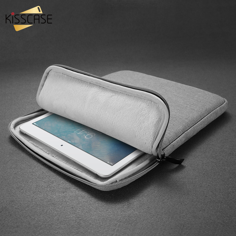 KISSCASE Business Simple Case For iPad mini 1 2 3 4 Universal Canvas Shockproof Bags For iPad 2 3 4 Pouch For iPad Pro Air 1 2