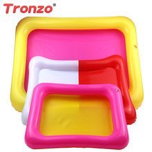 Tronzo Inflatable Toy 35-60cm Children Indoor Magic Play Sandbox PVC Inflatable Sandbox Pool Tray Accessories Beach Toy(China)