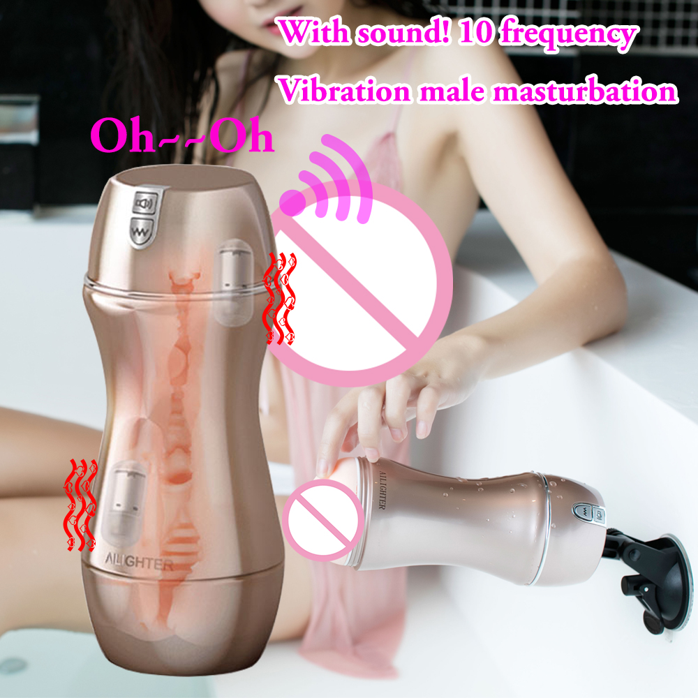 360 Degree Hands Free Male Masturbator Vagina Real Pussy Adult Sex Toys For Men Sex Products Masturbator Masculino Air pressure easy love l male masturbator automatic sex machine hands free retractable masturbation cup piston telescopic sex toys for men