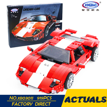 XingBao 03011 919Pcs Pravi kreativni MOC Technic serije Red Phantom Racing auto set Djeca Građevinski blokovi Cigle Boy Toy