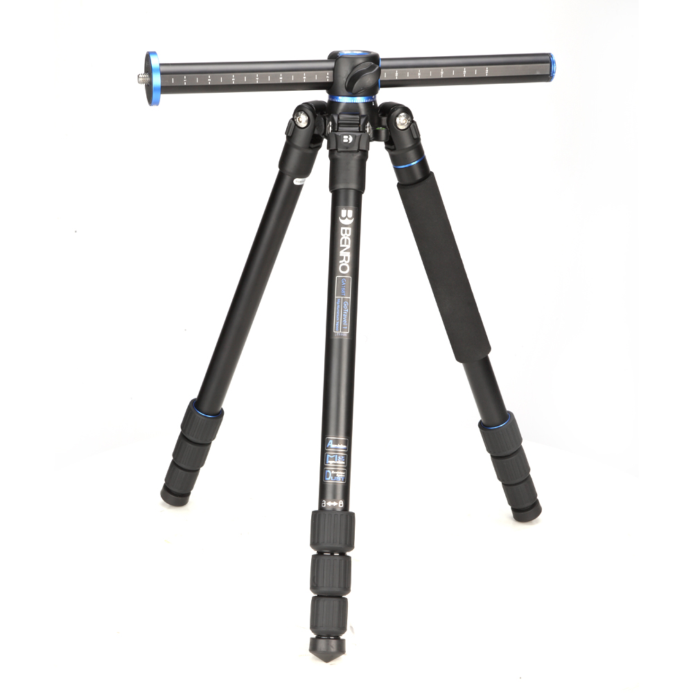 Benro GC158T Prefessional Tripod Carbon Fiber SLR Camera Tripod Stable Photography Bracket Stable Tripod With Transverse Axis in Tripods from Consumer Electronics