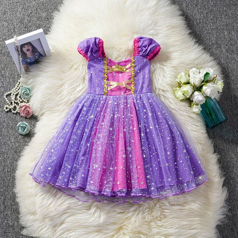 HTB15jaiX8r0gK0jSZFnq6zRRXXaL Infant Baby Girls Rapunzel Sofia Princess Costume Halloween Cosplay Clothes Toddler Party Role-play Kids Fancy Dresses For Girls