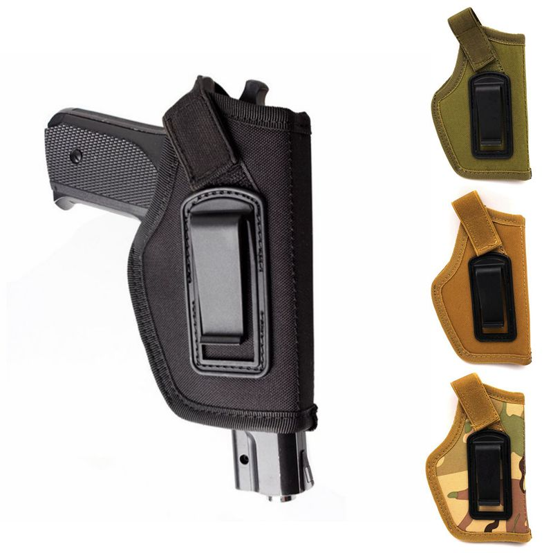 Universal Tactical Compact / Subcompact Pistol Holster Waist Case Glock Gun Waistband Bag Hunting Accessory Right Left Side