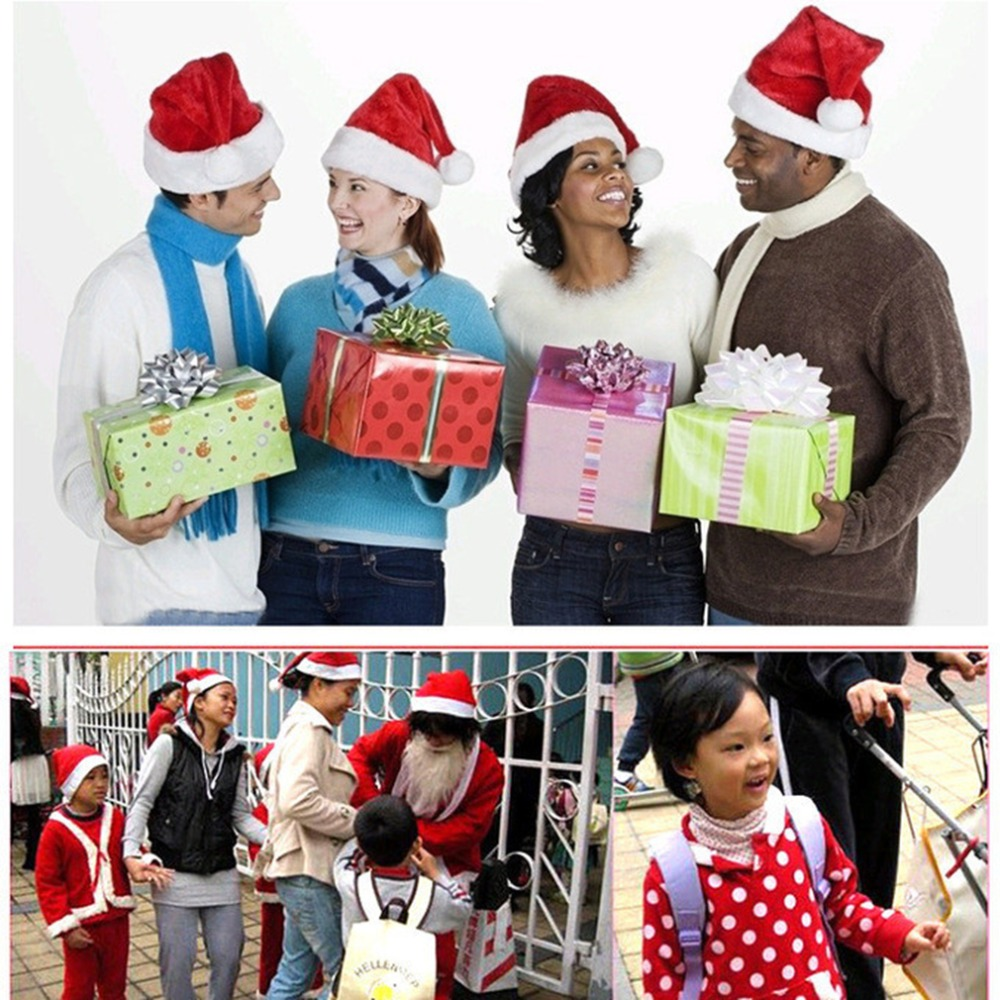 e232febeac690 Super Deal Christmas Caps Thick Ultra Soft Plush Santa Claus Holidays Fancy  Dress Hats Fashionable Design Cap For Holi-in Skullies   Beanies from  Apparel ...