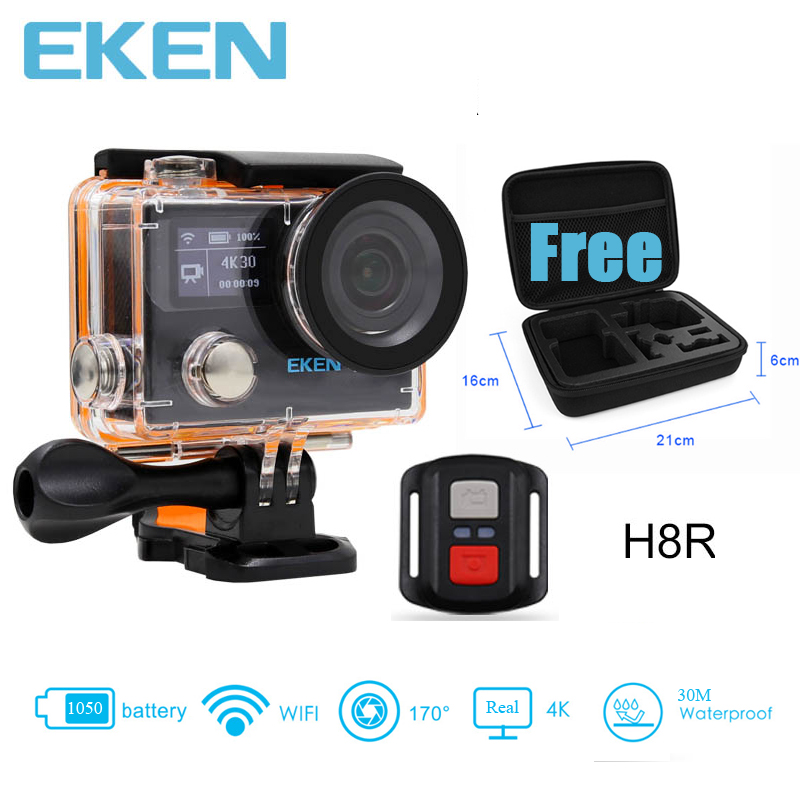 EKEN H8R 4K 30fps Ultra HD Camera Real 4K Action Camera 30 waterproof 2 inches LCD Screen Wi-Fi Remote Gopro Hero 5 Style Camera original eken action camera eken h9r h9 ultra hd 4k wifi remote control sports video camcorder dvr dv go waterproof pro camera