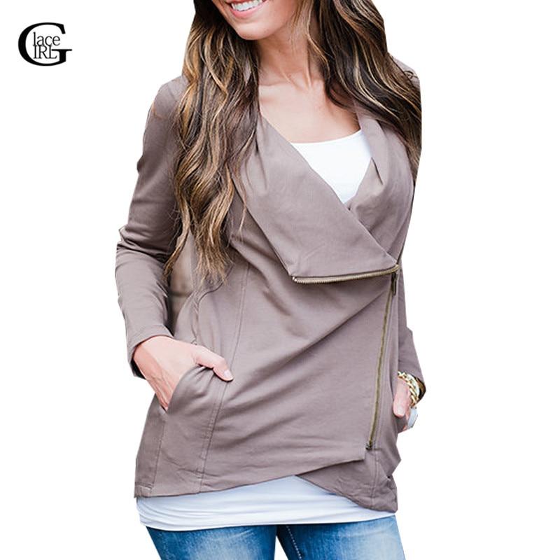 Lace girl vintage cremallera de la chaqueta 2017 mujeres del otoño irregular dam