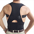 O envio gratuito de new magnetic therapy postura corrector Postura Voltar Shoulder Corrector Suporte Brace Belt Preto