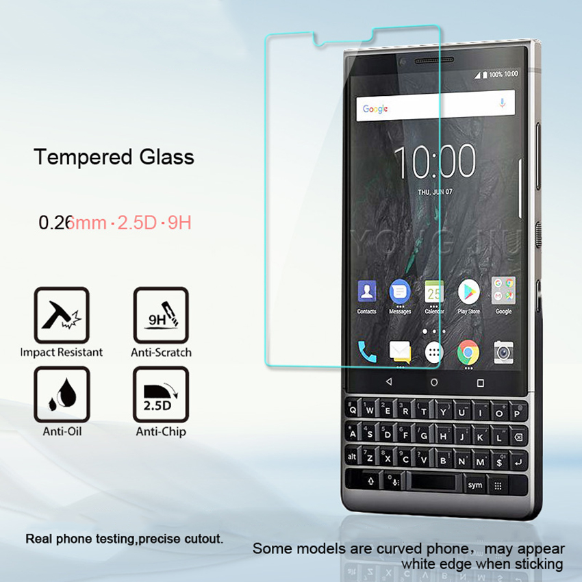 """For BlackBerry Key2 Tempered Glass 9H 2.5D Premium Screen Protector Film For BlackBerry Keytwo Key 2 Two 4.5""""(China)"""