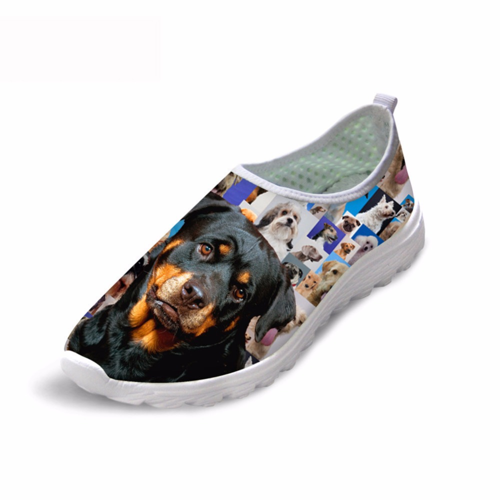 Noisydesigns 3D собака фон sip на мелкой Леди Пикник обувь Бег кроссовки удобные сетки воздуха 2018 Весна Осенняя мода