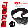 6000lums Hands-free LED Headlamp Motion Sensor head lamp LED headlight Torch Built-in battery inductive with Portable box 6