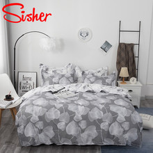 Sisher Nordic Style Home Bedding Sets Printing Comforter Quilt Cover Set Size Single Full Double Queen King
