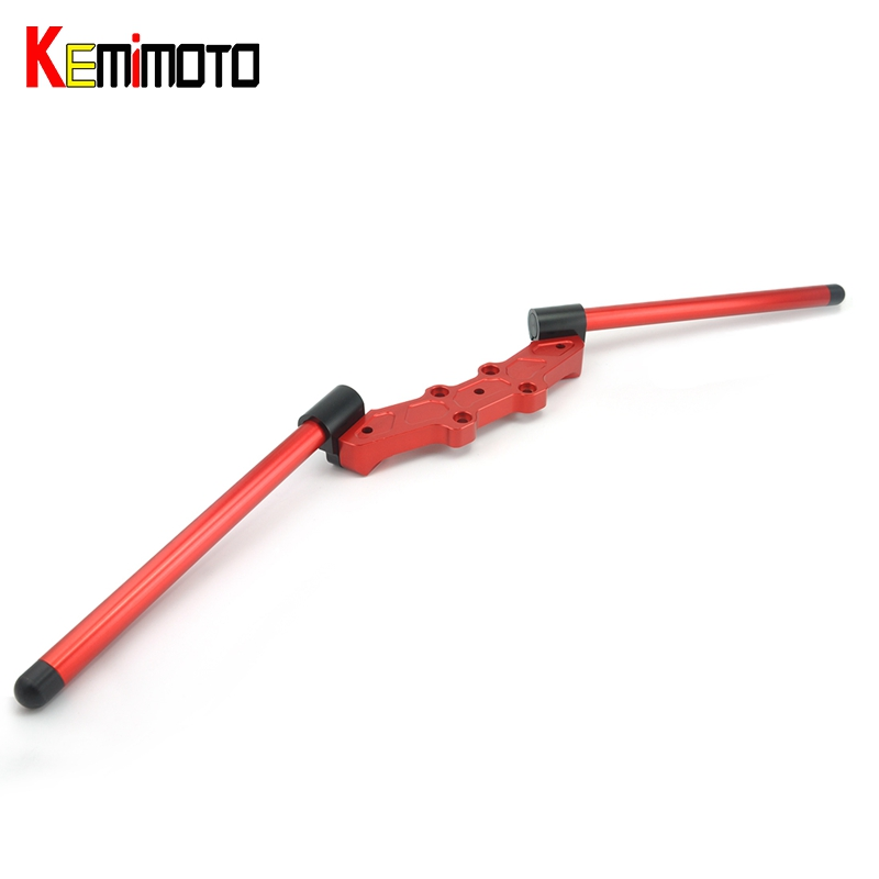 KEMiMOTO For Ducati Monster 696 796 1100 Motorcycle Accessories Risers Adjustable Handlebars Handle Bar With Clamp Kit 2008-2014 motorcycle scooter akrapovic escape pipe muffler pipe for ducati monster 796 2011 2014 e 696 monster 2009 2014