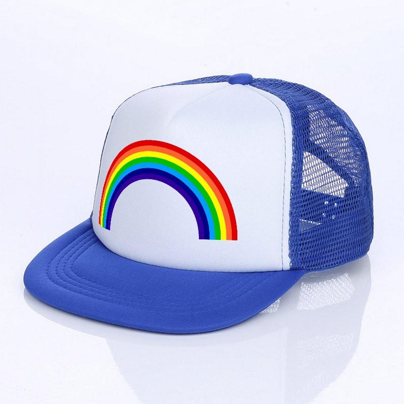 LGBT Pride Unicorn Unisex Baseball Cap Polyester Sport Hats Adjustable Trucker Caps Dad-Hat