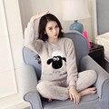 Engrosamiento de Franela Pigiama Donna Pijamas Mujeres Pijama Feminino Pijama Mujer Primark Pijamas de Invierno Para Las Mujeres Conjuntos de Pijamas de Invierno